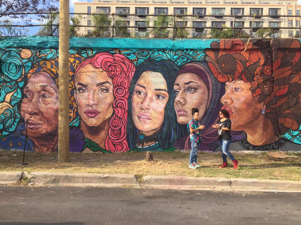 Streets Railroad Tracks Was Painted In  With The Help Of Students And Community Members Under Diazs Guidance This Mural Featuring Rows Of Male