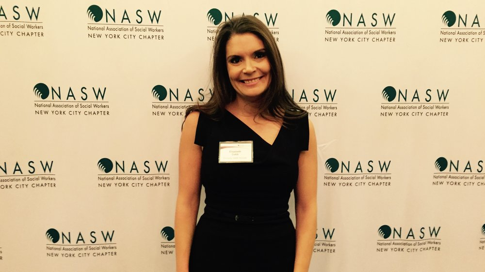 Our founder: Elizabeth Cobb, LCSW at the 11th annual leadership awards dinner.