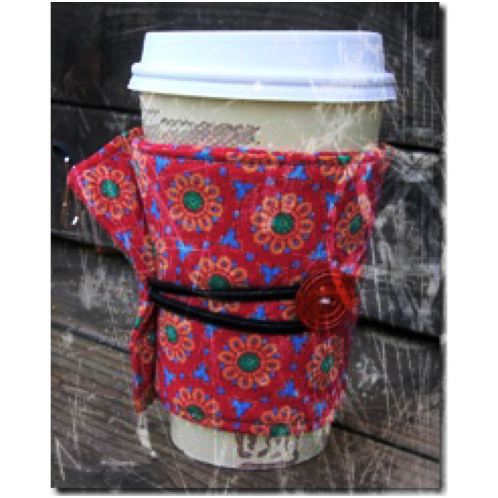 Make a Coffee Cozy today (pictured here)