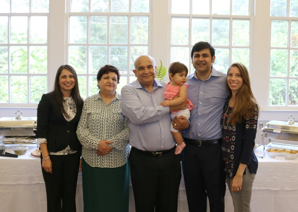 Obaid's family joined in the retirement celebration on Oct. 2.