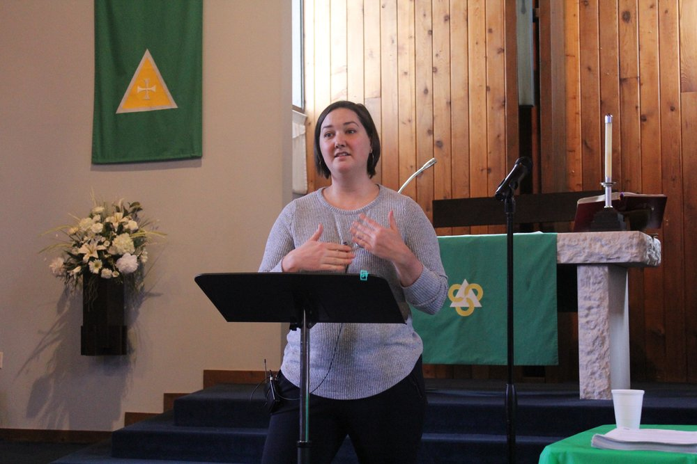 Jessica Jones, Acting Director for Advocacy, Lutheran Immigration and Refugee Services, provided practical tips and advice for communicating with elected officials and standing up for refugees