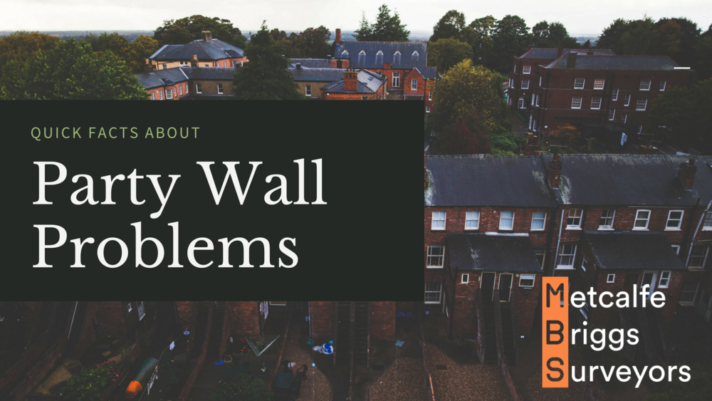 Party wall problems are best tackled with  help from a Chartered Building Surveyor .