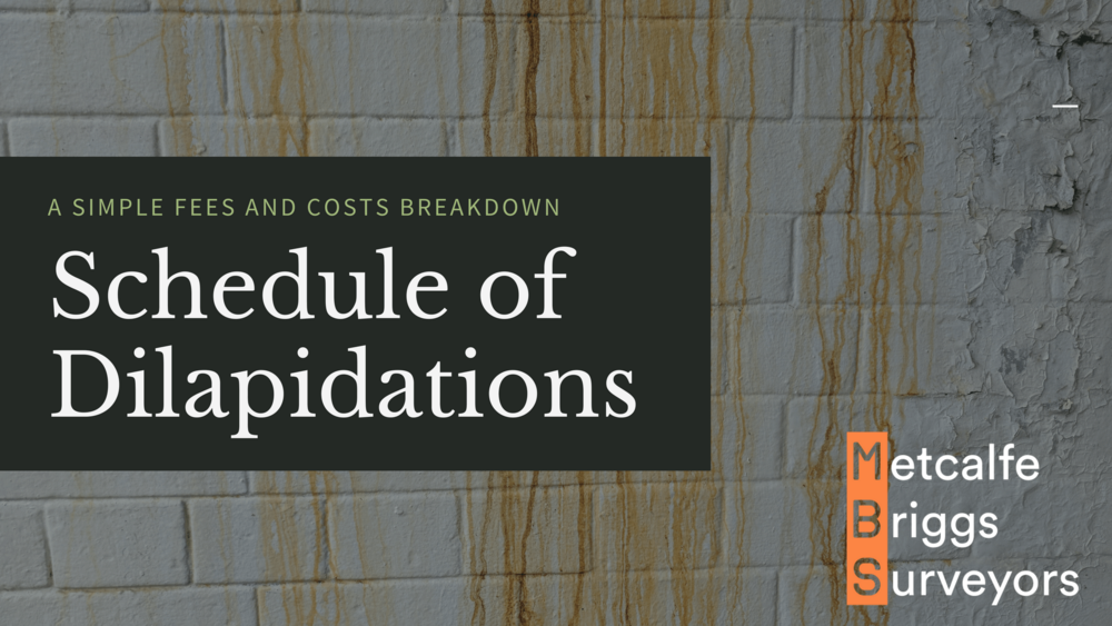 A schedule of dilapidations is best handled by a Chartered Building Surveyor
