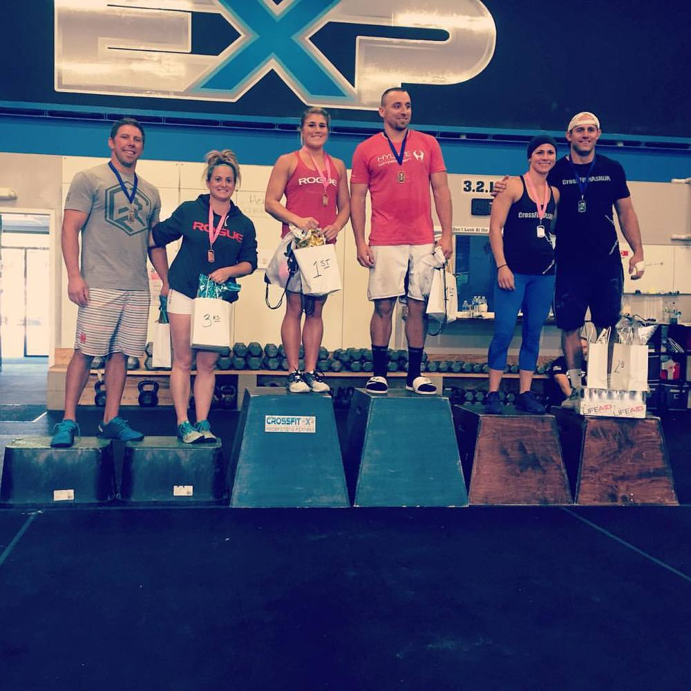 Congrats to Kelly and Steve on their podium finish at CrossFit EXP this weekend!