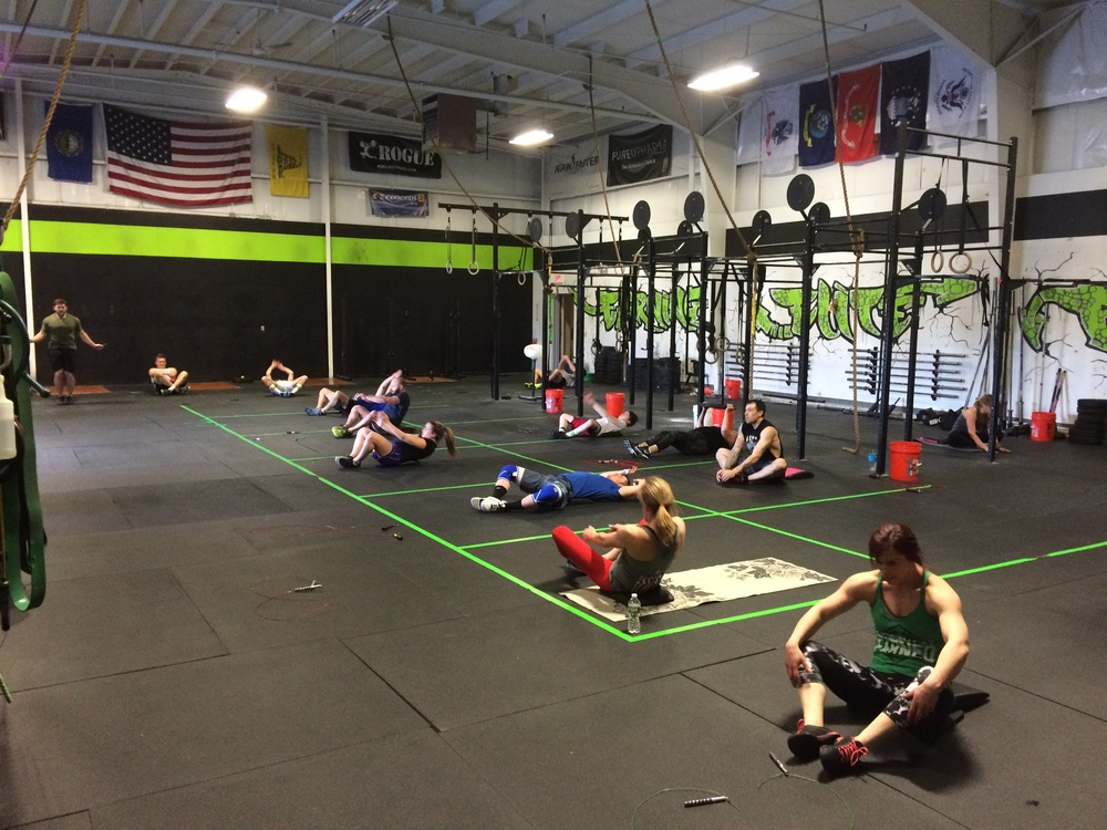 Benchmark workout where half the reps are sitting down? Sign me up!