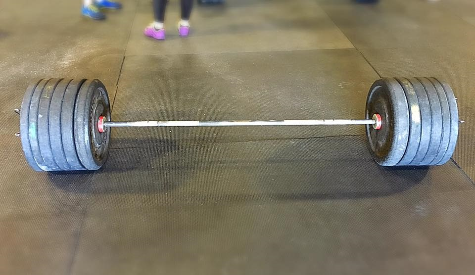 When you run out of barbell...