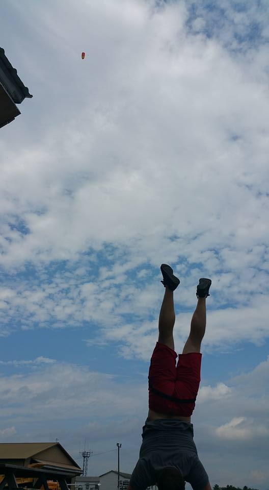 Handstand bomb!