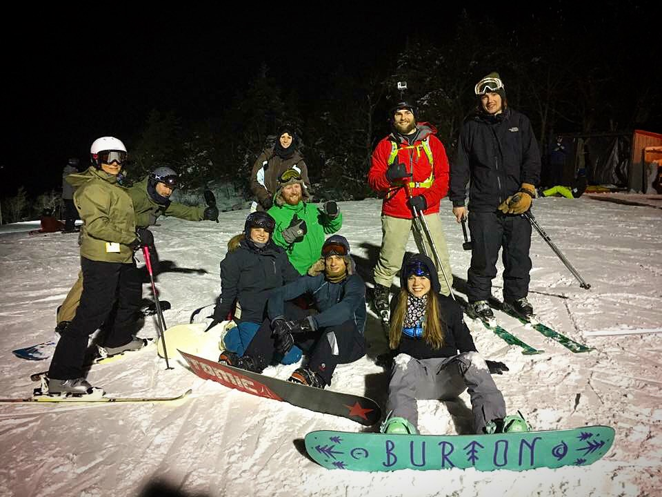 Great night of skiing with this crew.