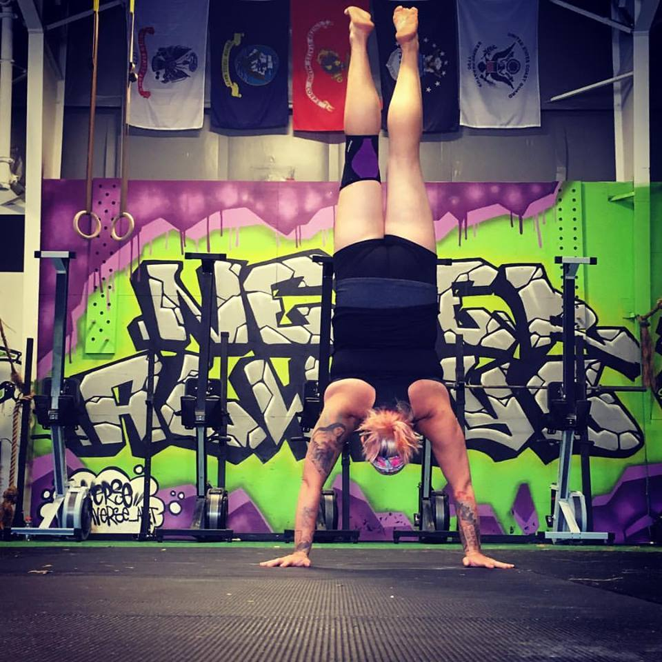 Say WHAAAT!? Aimee just showing off her handstand skillz. #neveralways