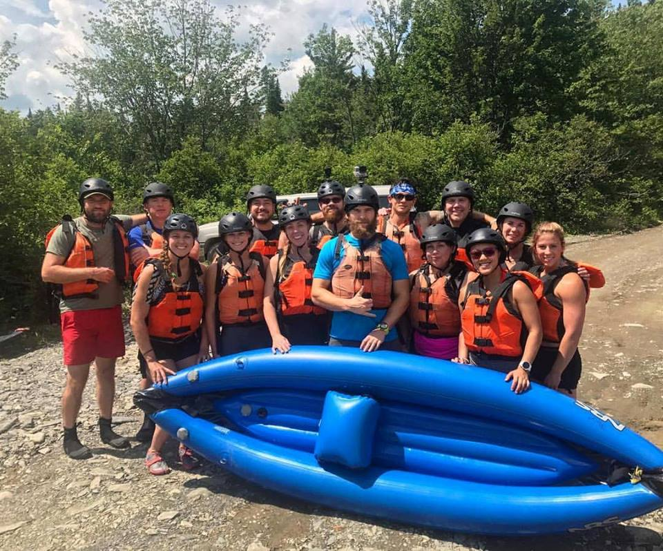 Some of the crew from this past adventure-filled weekend. White water kayaking is the real deal!