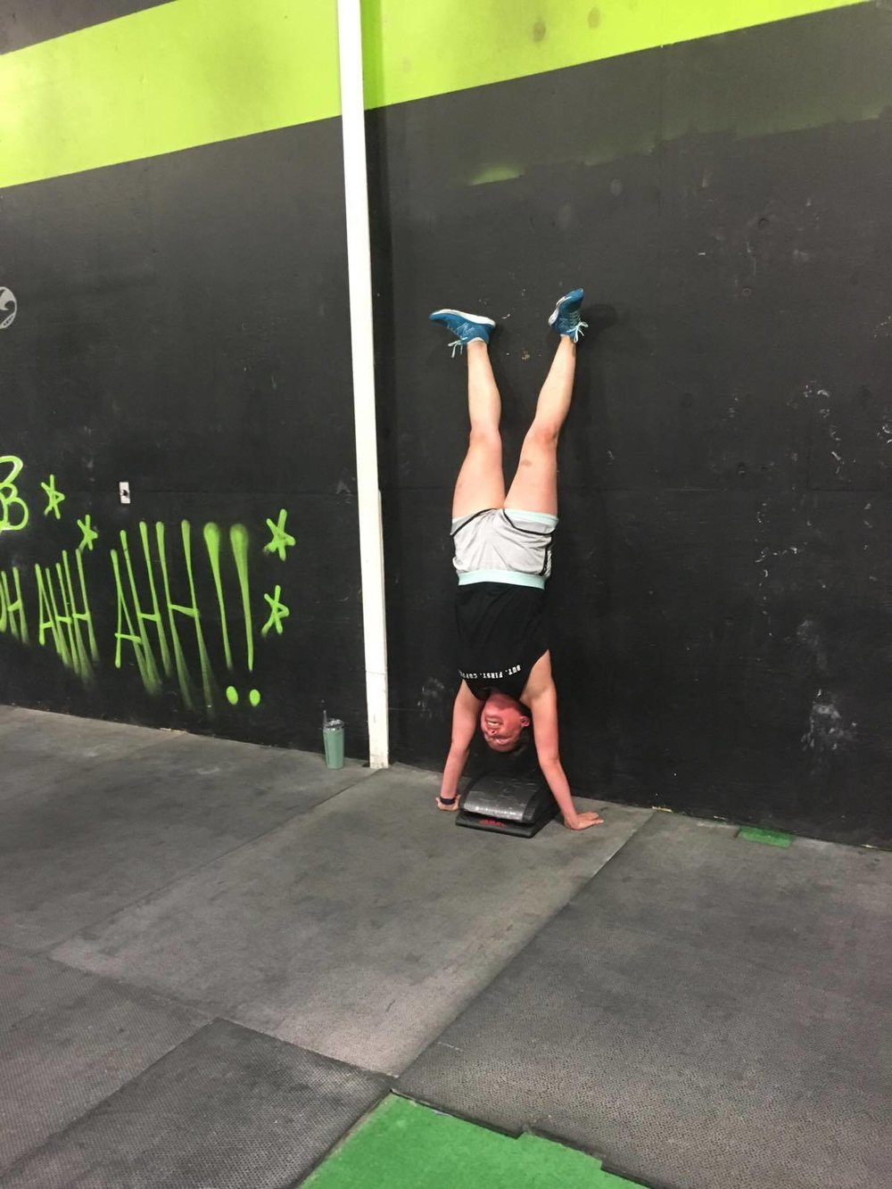 She got her handstand!!! GOAT work pays off :)