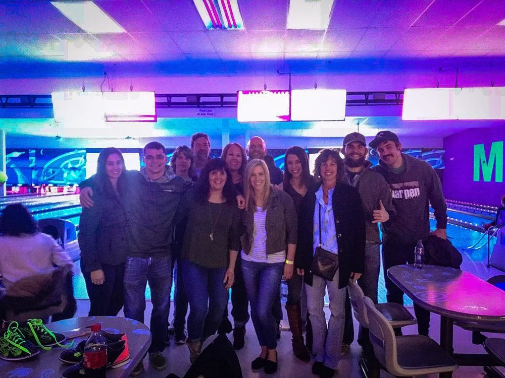 Fun group for Saturday Glow Bowling!