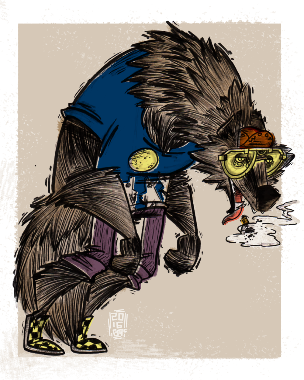 HIPSTER PETS: WILCO WOLF