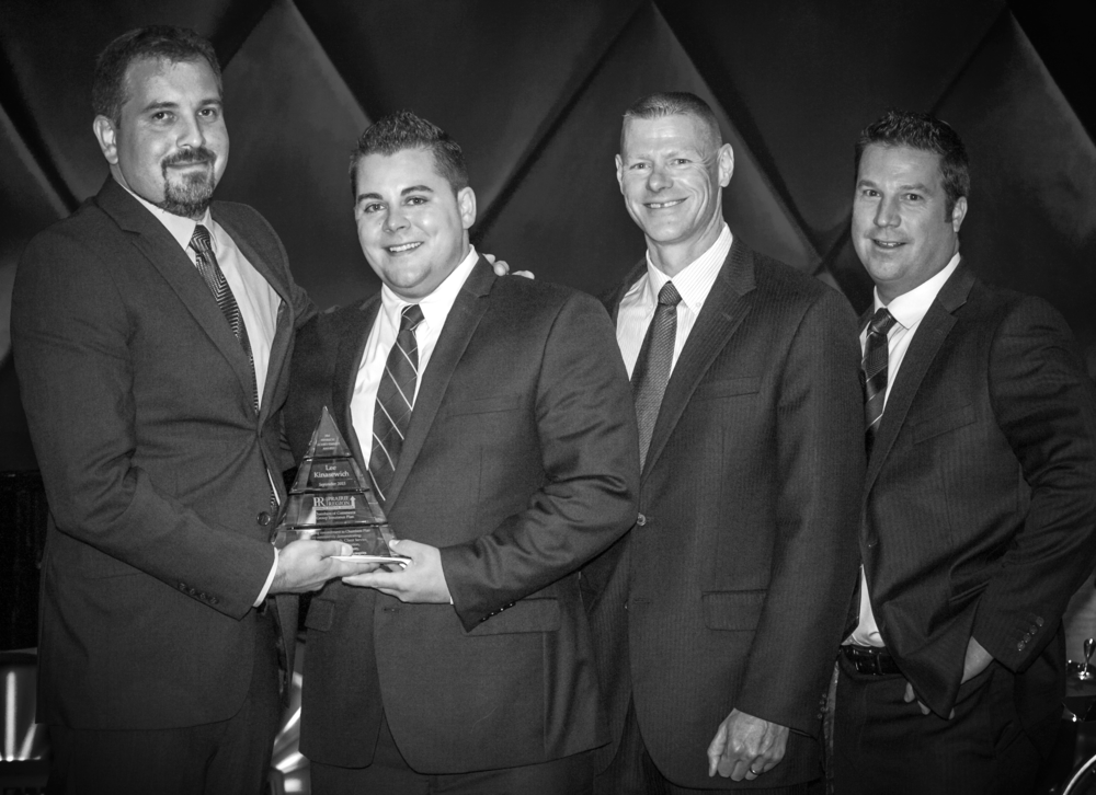 Kyle Fenrich & Lee Kinasewich,  Gold Key Benefits Advisors; Ken Willoughby, Regional Marketing Director; Garet Stewart, Gold Key Benefits Advisor