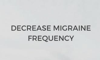 Decrease Migraine Frequency