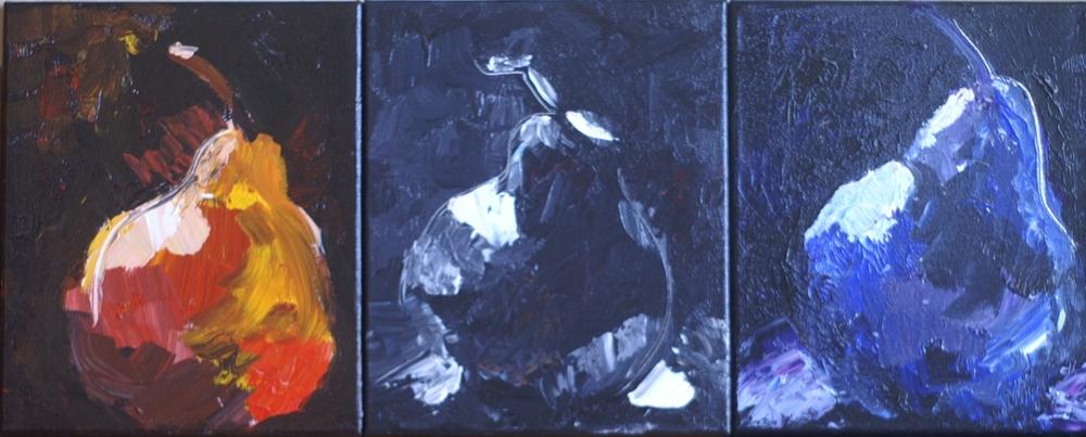 Funky Pear triptych