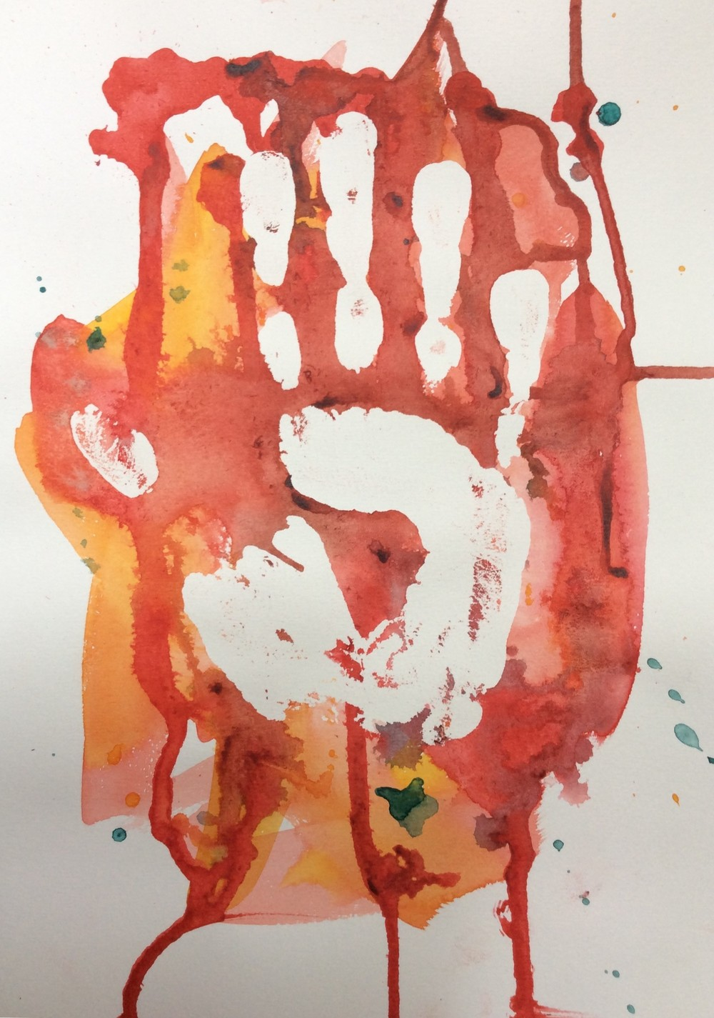 """Resistance"" Art journal, watercolour, 9 x 12"""