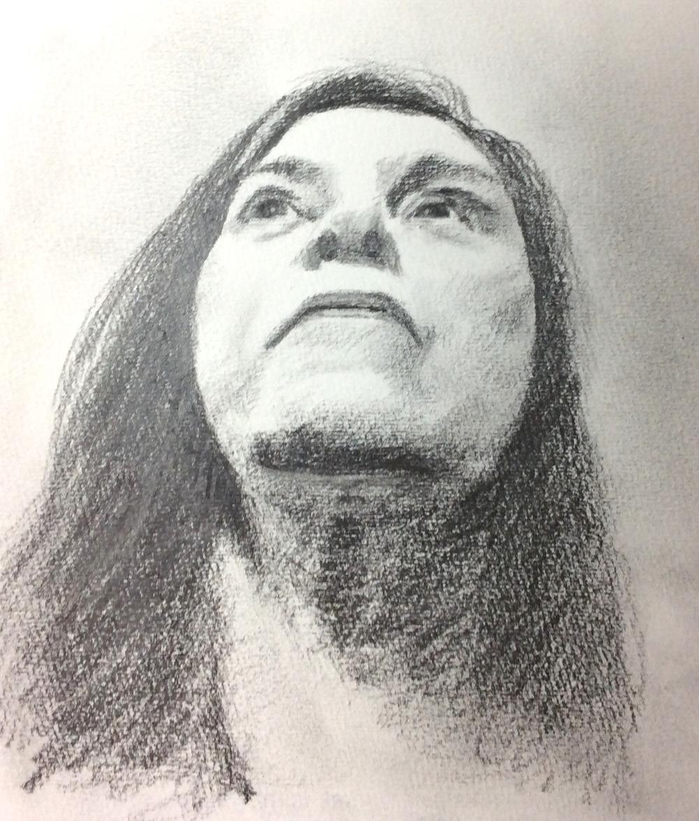 """Happy Birthday, San"" Art journal, pencil"