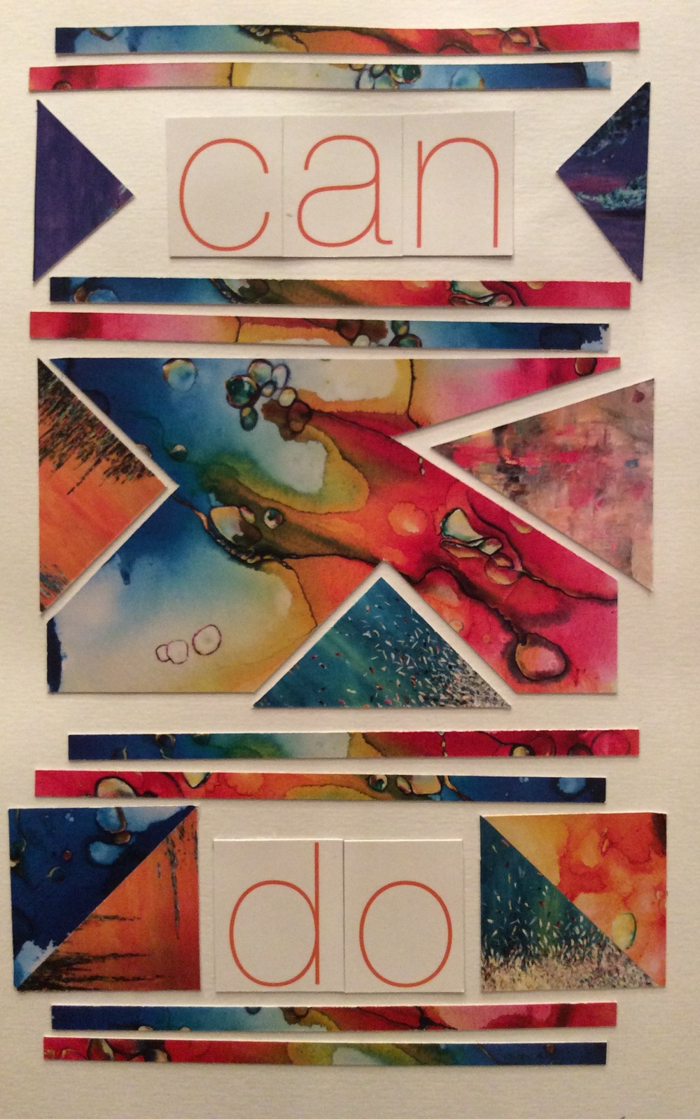 """Can Do""  Art journal, collage."