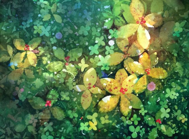 """Constellation""Watercolour, 21 x 29""."