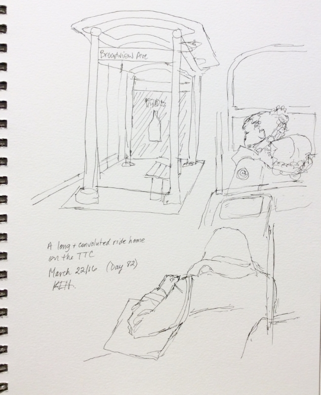 Quick sketches, art journal, ink