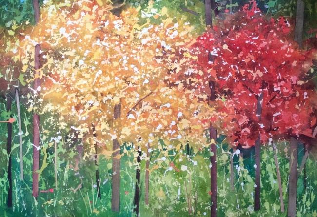 """Title TBD. Watercolour, 20 x 28"""""""
