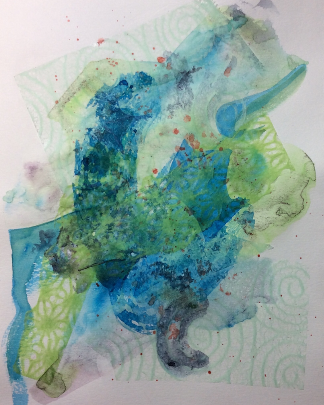 """Eleventh Hour"". Art journal, mixed media"