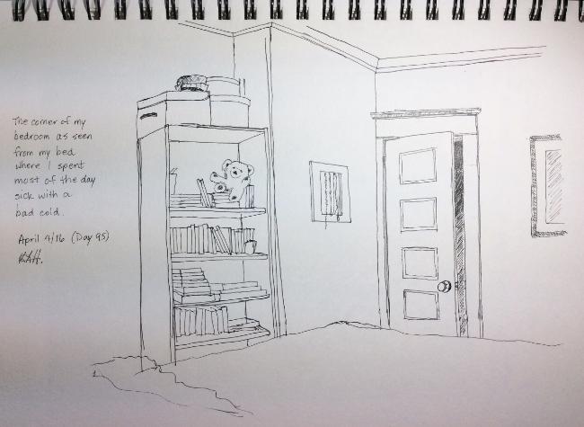 Art journal, ink.