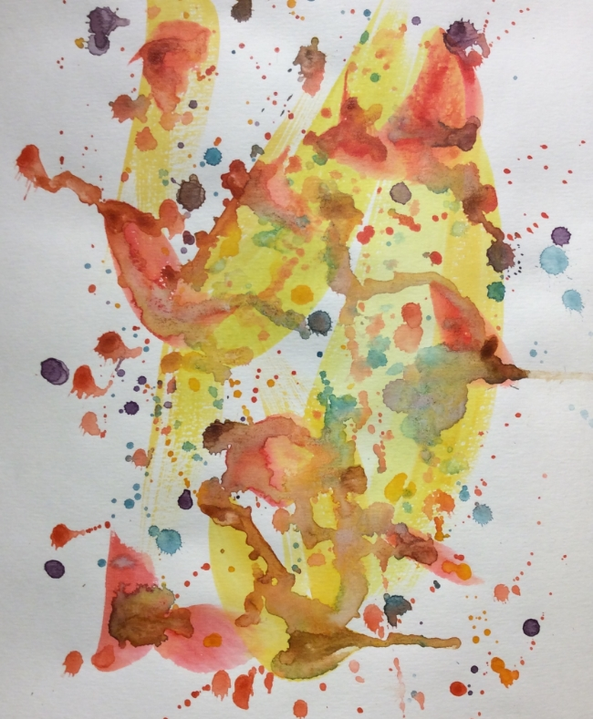 """The Joy of Singing"" Art journal, watercolour"