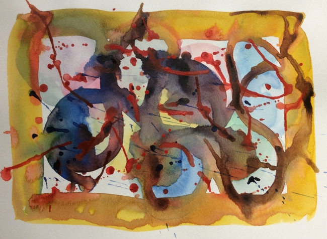 """Brouhaha"" Art journal, watercolour"