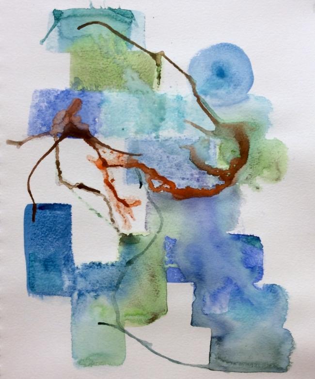 """""""The Climb"""" Art journal, ink"""