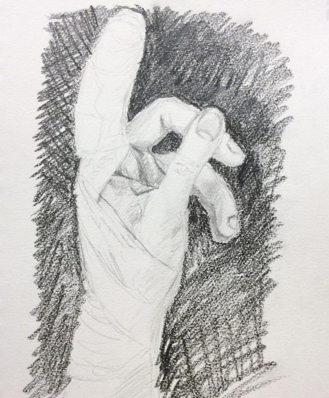 """Boo Boo"" Art journal, pencil"