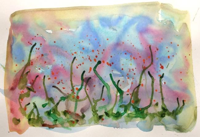 """""""Garden Variety"""" Art journal, ink"""