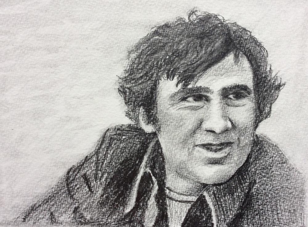 """Happy birthday, John!"" Art journal, pencil"