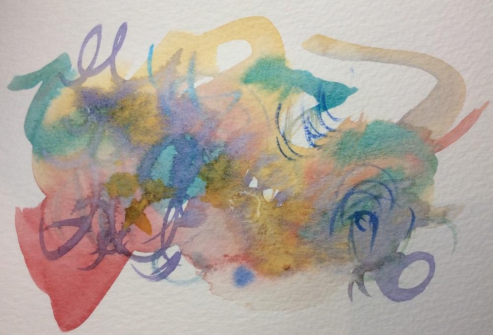 "Watercolour notecard, 5x7"""