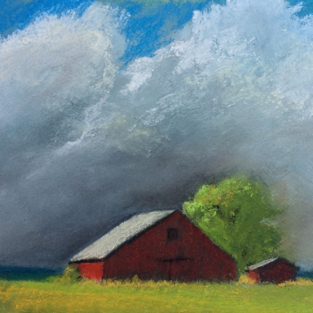 """""""Weather Coming"""". Pastel, 5 x 5"""""""