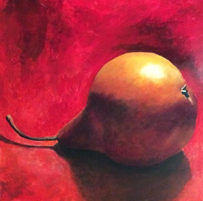 """""""Pear XXXIX"""" Acrylic, 24 x 24"""""""