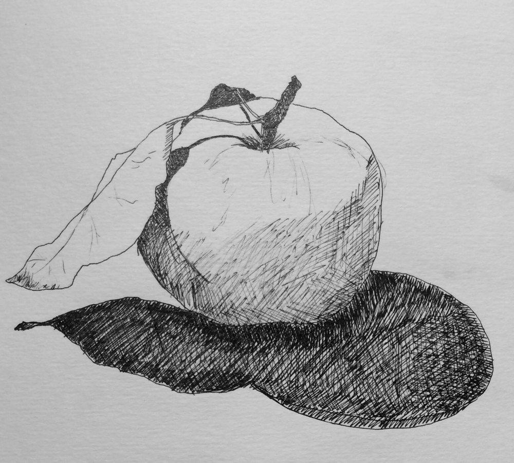 """""""Dessert"""". Art journal, ink"""