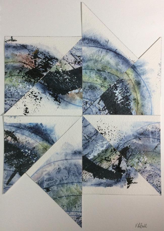 """Hurricane Matthew"" Art journal, mixed media collage"