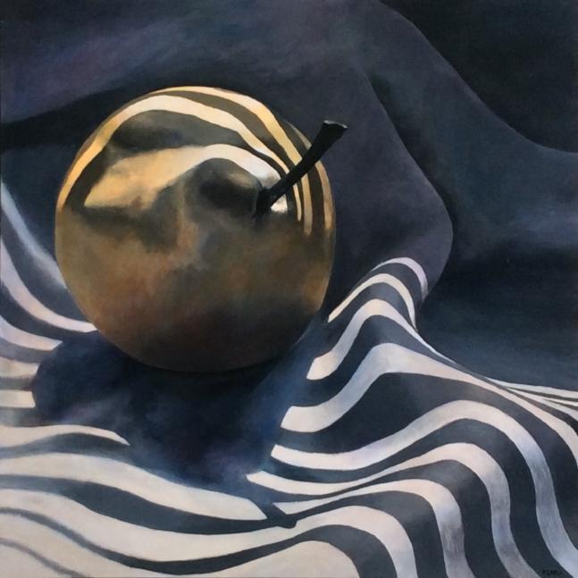 """Venetian Pear II""  Acrylic on canvas, 48 x 48"""