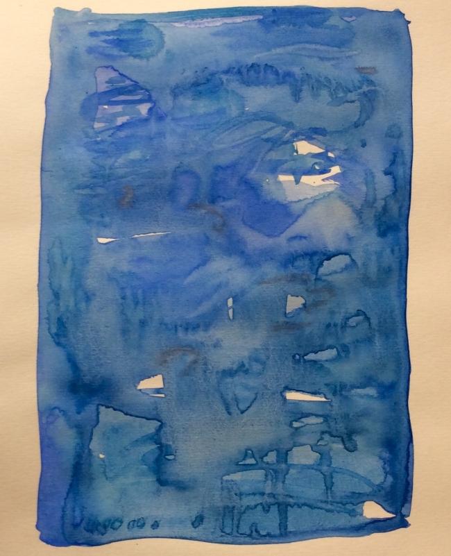 """""""Blue"""". Art journal, watercolour"""