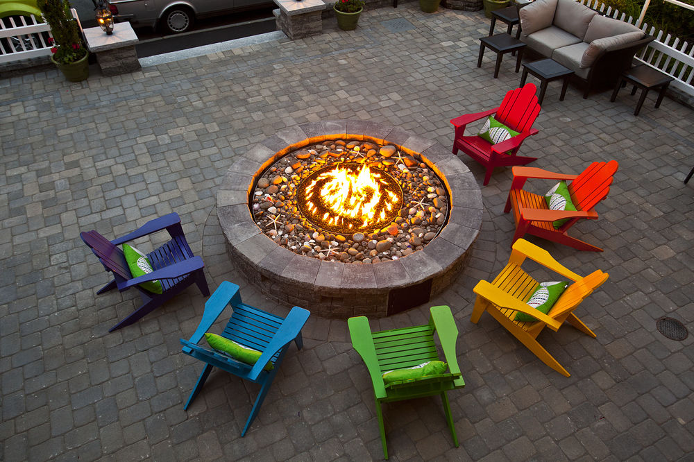 Lounge by the firepit with a book or a glass of wine.