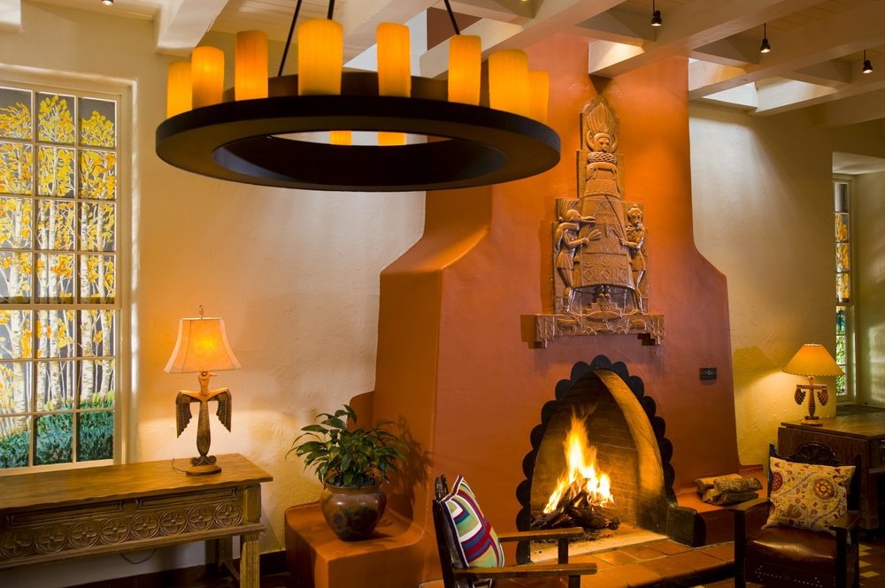 Relax by the fireplace with a book and a cup of coffee (or glass of wine) after a long day of yoga and sight-seeing.