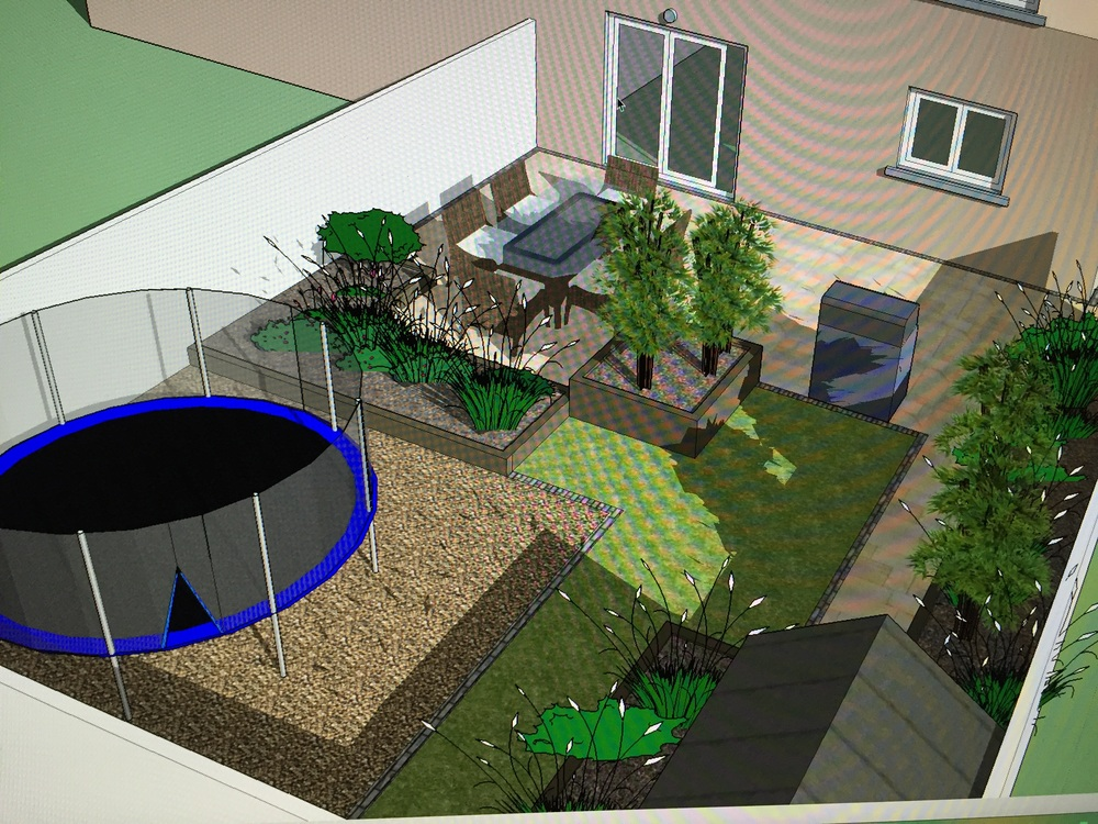 We offer complete 3D views of you garden