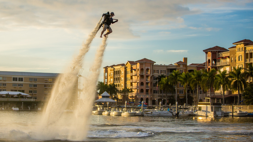 Water Jet Pack Flight in Naples, Florida.
