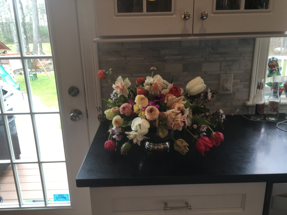 spring arrangement at cara's house.JPG