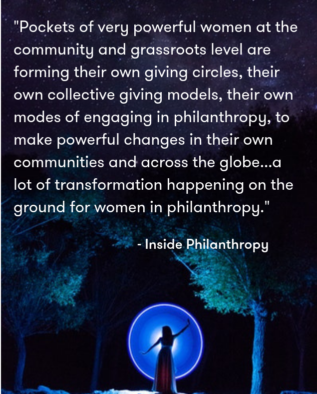 source:  Inside Philanthropy: Empowered Women Changing Philanthropy