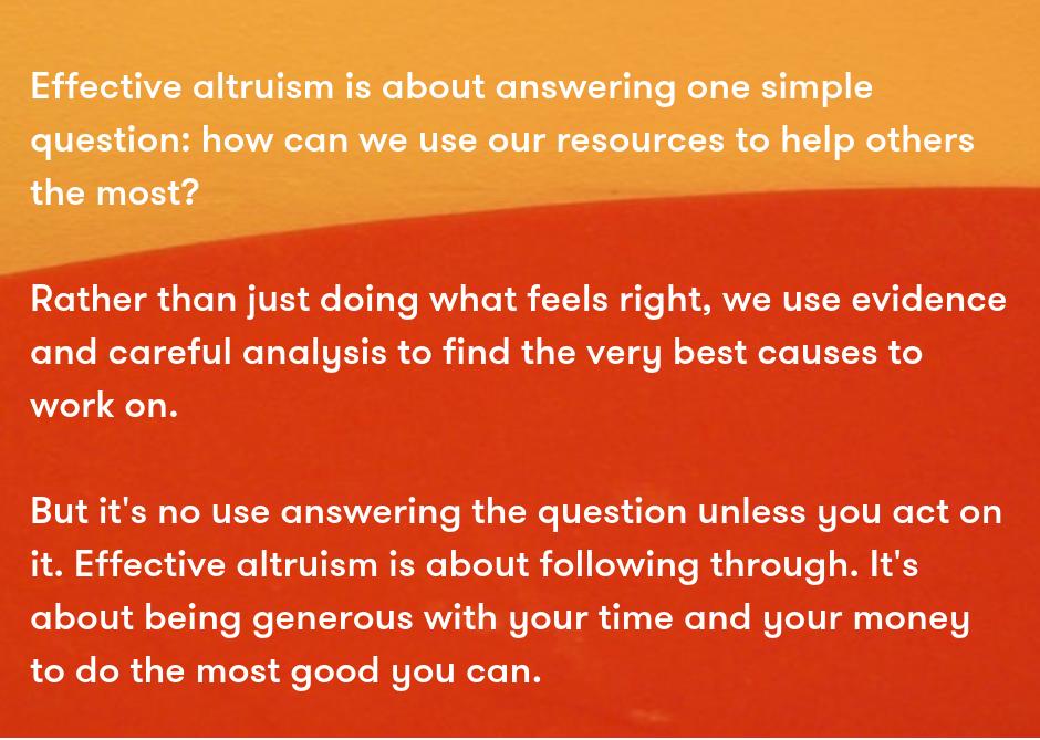Source:  Effective Altruism