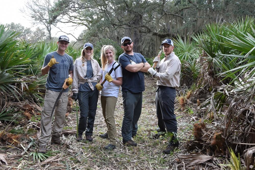 Georgia Conservancy staff (L-R Clint McNeal, Johanna McCrehan, Laura Buckmaster, Bryan Schroeder, Ben Fowler)