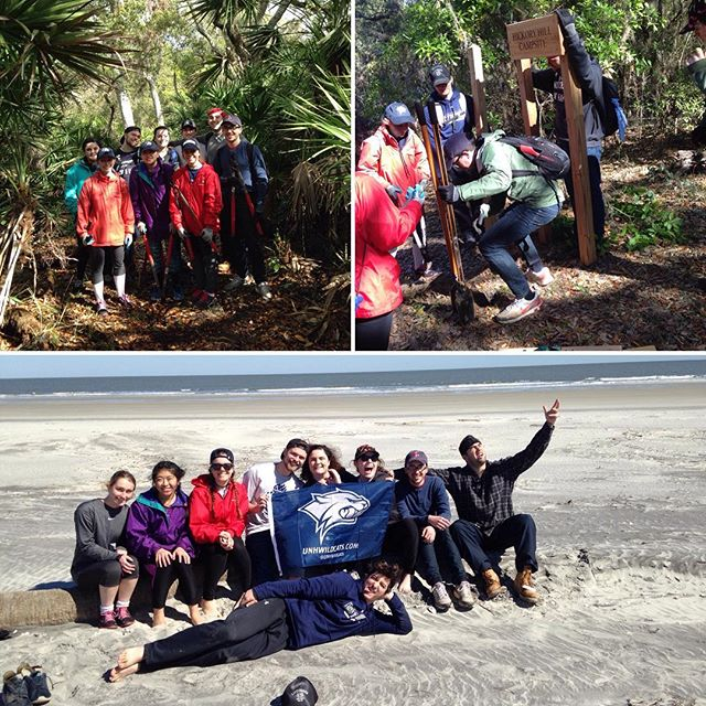 Thanks to this group from the University of New Hampshire for their work during their spring break this week! #cumberlandisland #thisismyga